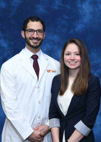 Hannah Maus with Dr. Kostas